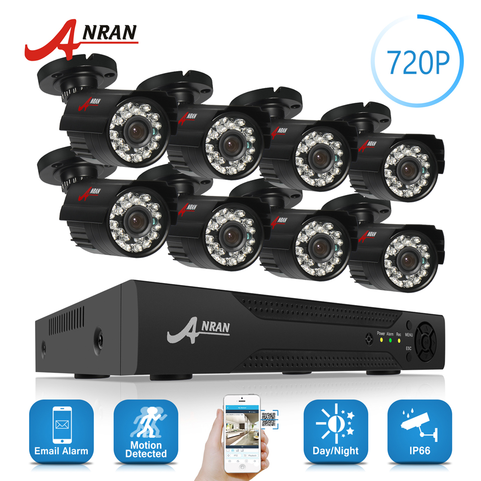 ANRAN 8CH HD 1080N AHD DVR Kit 720P 1800TV 24 IR Day Night Outdoor Waterproof Camera Home Surveillance CCTV Security System HDD 20 pounds m110 compound bow wih black camo color high strength aluminum handle and glass fiber bow limbs for children games