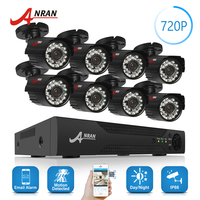 ANRAN 8CH HD 1080N AHD DVR Kit 720P 1800TV 24 IR Day Night Outdoor Waterproof Camera Home Surveillance CCTV Security System HDD