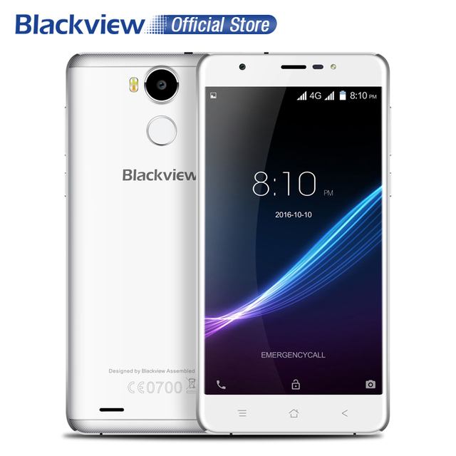 Blackview R6 4G Smartphone 5.5 inch FHD 1920x1080 MTK6737 Quad Core Android 6.0 3GB RAM 32GB ROM 13MP Fingerprint ID Cellphone