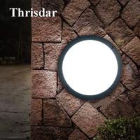 Thrisdar 18W Waterproof LED Wall Lamp Aluminum Aisle Balcony Ceiling Lamp Wall Sconce Light Outdoor Lawn Garden Porch Light