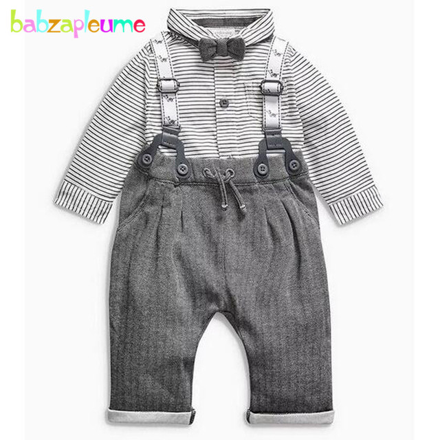 d644b9404c60 2PCS 0 24Months Spring Autumn Baby Boys Clothes Gentleman Suits ...