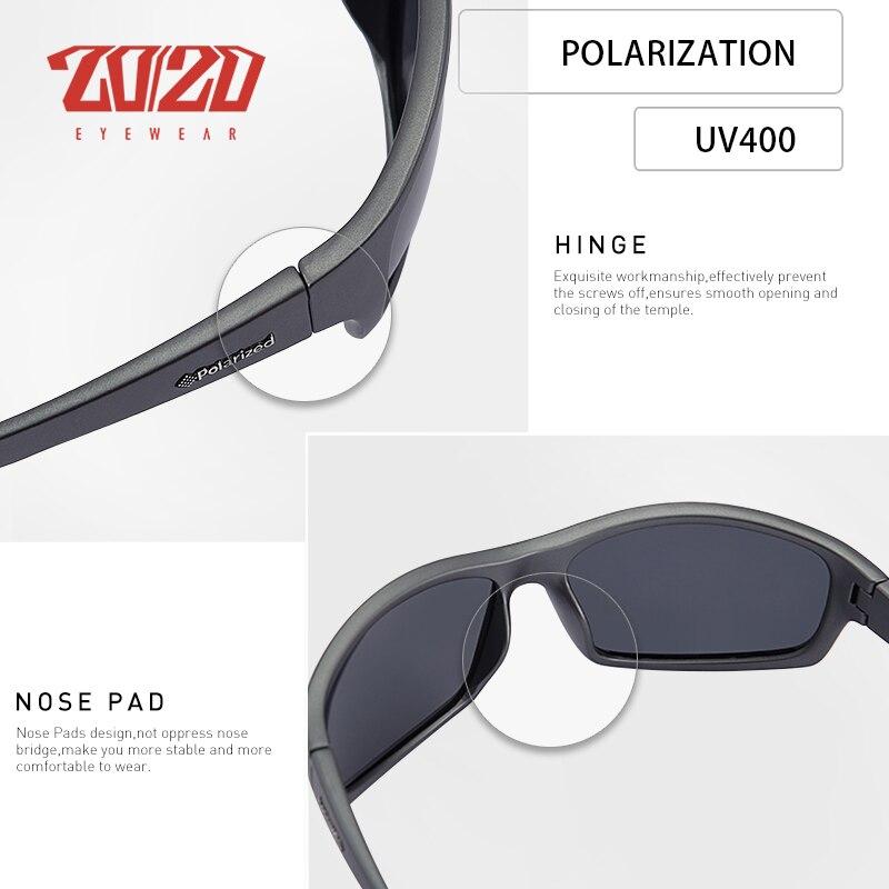 20/20 Optical Brand Design New Polarized Sunglasses Men Fashion Male Eyewear Sun Glasses Travel Fishing Oculos PL66 With Box 4