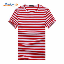 Covrlge 2018 New Hot Mens Bodybuilding Striped Casual T Shirts for Summer O-neck Hip Hop Short Sleeve Top Tees Men MTS470