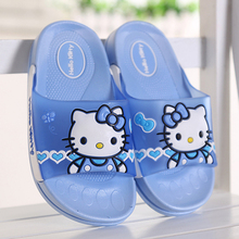 WENDYWU NEW 2017 Slippers summer children a HELLO KITTY home bathroom bathroom non slip men and