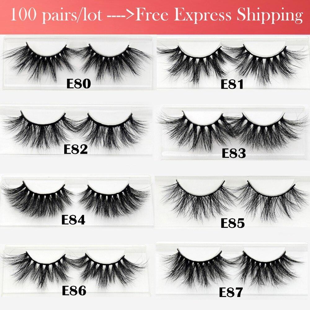 Wholesale Free DHL 100pairs Visofree Mink Eyelashes 25mm Lashes Dramatic Volume 3D Mink Lashes Long Reusable