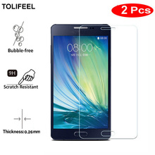 2PCS TOLIFEEL Tempered Glass For Samsung Galaxy A5 2015 A500 A5000 A500F Screen Protector 9H Transparent Phone Protective film