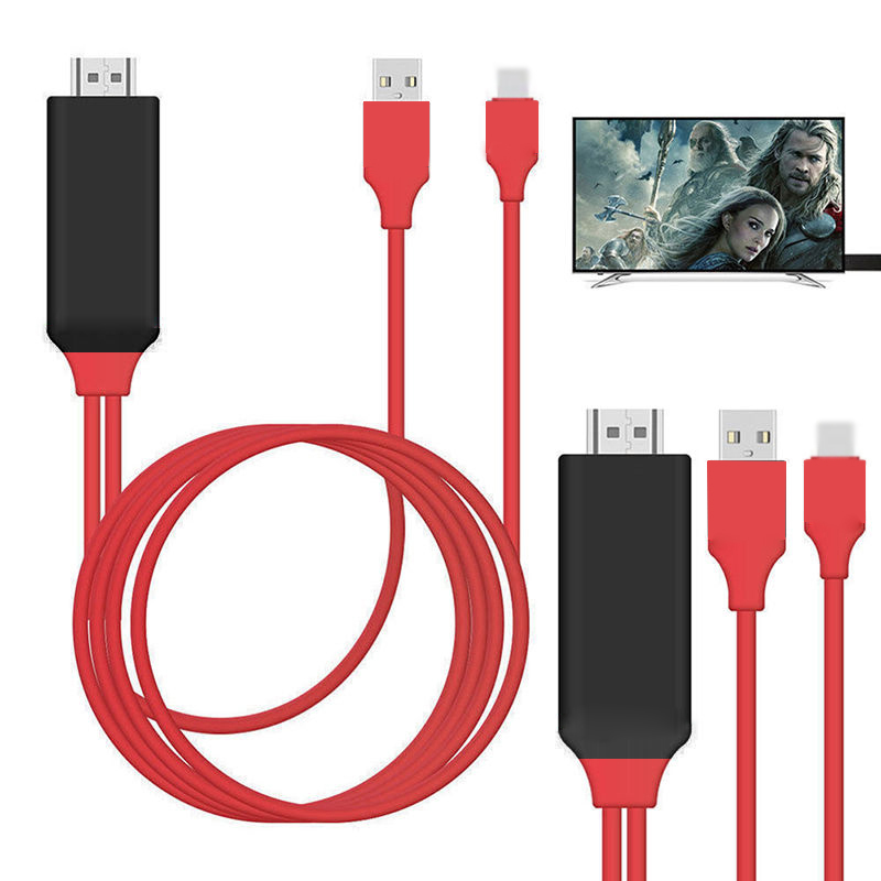 HDTV TV Digital AV Adapter 8 Pin To HDMI Cable USB HDMI 1080P Smart Converter Cable For Apple Tv For IPhone X 8 7 Digital Cable