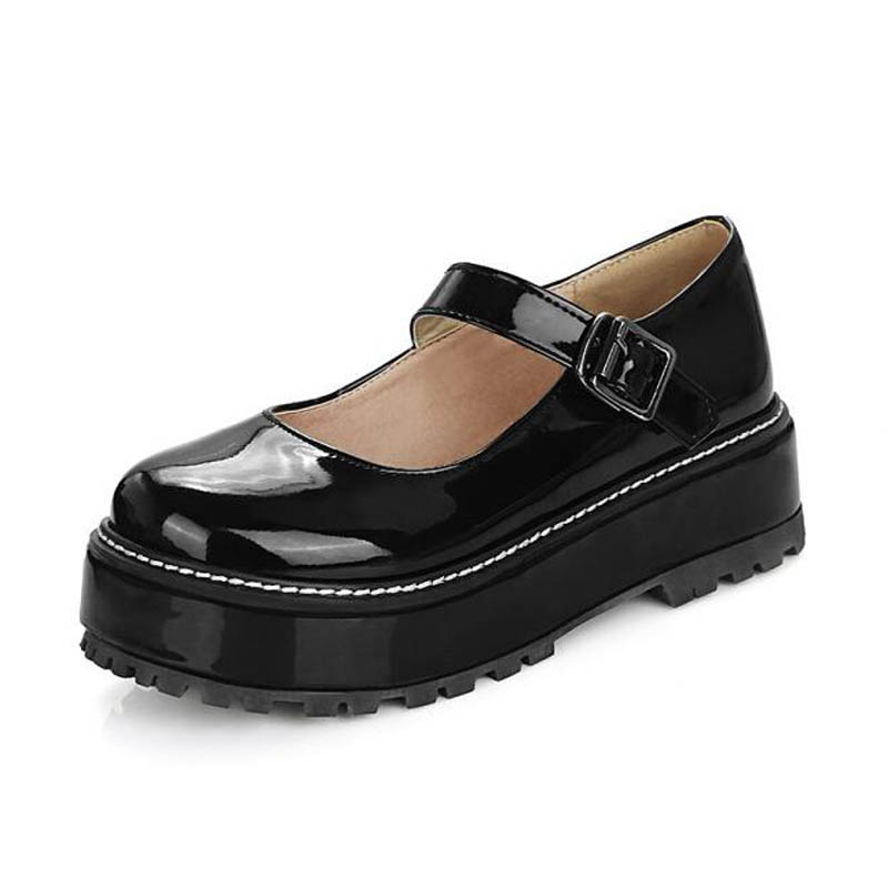 Women Platform Creepers Shoes Woman Round Toe Mary Janes Wedge Heel Shoes Buckle Strap Ladies Pumps Shoes For Women Size 43 D65 liliana b andonova transnational politics of the environment – the european union and environmental policy in central and eastern europe