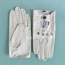 Summer Mens Leather Gloves Mittens Breathable Genuine Leathe