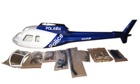 AS-350/AS350 450 scale Fiber Glass fuselage T-REX450SE V2/Sport/Titan E325 as heliartist -fuselage wholesale P2