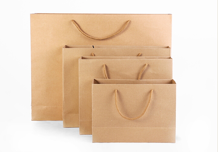 Popular Brown Paper Shopping Bags Wholesale-Buy Cheap Brown Paper ...