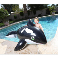 203 102cm Kids Inflatable The Whale Pool Floats Buoy Swimming Air Mattress Floating Island Toy Water
