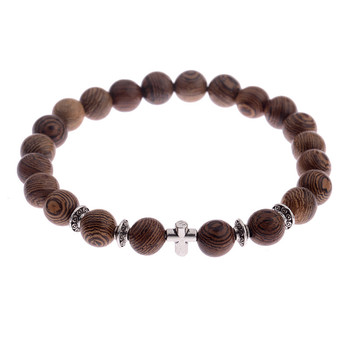 Elastic Natural Wood Beads Bracelet Bracelets Jewelry New Arrivals Women Jewelry Metal Color: 003-3