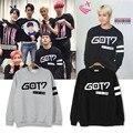 K-pop KPOP Delgada Hoodies De GOT7 VOLAR EN JAPÓN 2016 K-POP Clásico Sólido de Algodón de Manga Larga Outwear sudaderas JCF245