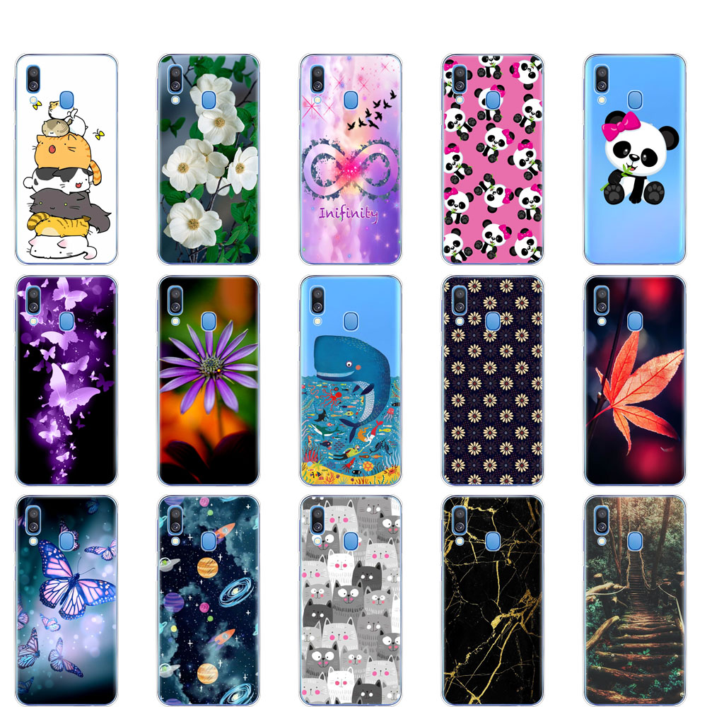 <font><b>Case</b></font> For <font><b>Samsung</b></font> <font><b>A40</b></font> <font><b>Case</b></font> Soft Silicone Back Cover For <font><b>Samsung</b></font> Galaxy <font><b>A40</b></font> A 40 A405 SM-A405F A405F Cartoon Protective coque image