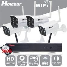 4CH Беспроводной Wi-Fi Камера Kit 1080 P NVR Системы Безопасности Камера с 500 ГБ HD 720 P Камеры ONVIF NVR Ip-камера Открытый IP66 Дома