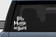 Harry Potter Baby Muggle on Board Vinyl Decal Sticker (23 inches (White)