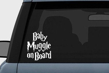 Harry Potter Baby Muggle on Board Vinyl Decal Sticker 23 quot inches White in Car Stickers from Automobiles amp Motorcycles