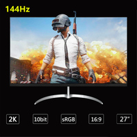 Anmite 27 inch 144Hz 2560*1440 LCD Gaming Monitor 1ms Freesync HDMI DP DVI Audio Designed for Online Game Competition