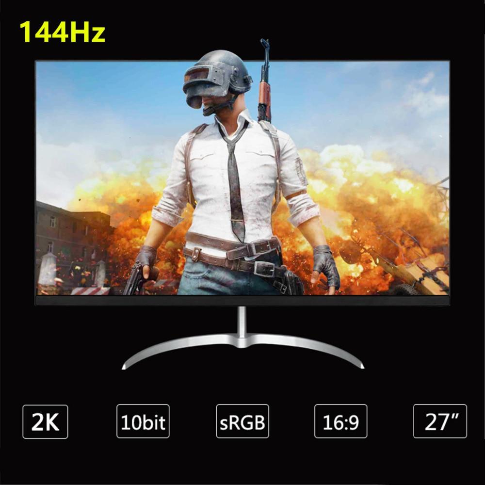 Moniteur de jeu LCD Anmite 27 pouces 144Hz 2560*1440 1 ms Freesync HDMI DP DVI Audio conçu pour la compétition de jeux en ligne