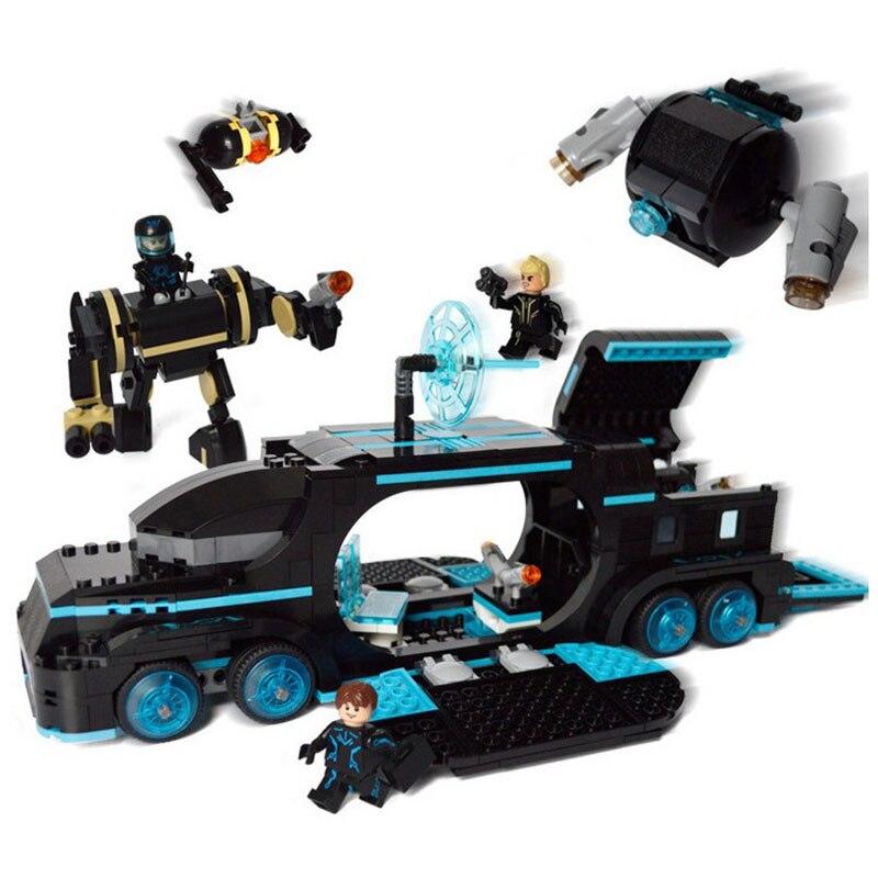StZhou 560Pcs Future Police City War X-Agents Armor Chariot Car Model Mech Robot Building Blocks educational Toys for children police pl 12921jsb 02m