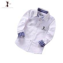 Случайные Мальчики Рубашки Известная Марка GFMY отложным Воротником Дети Мальчиков Рубашки Camisa Infantil Блузка 1008