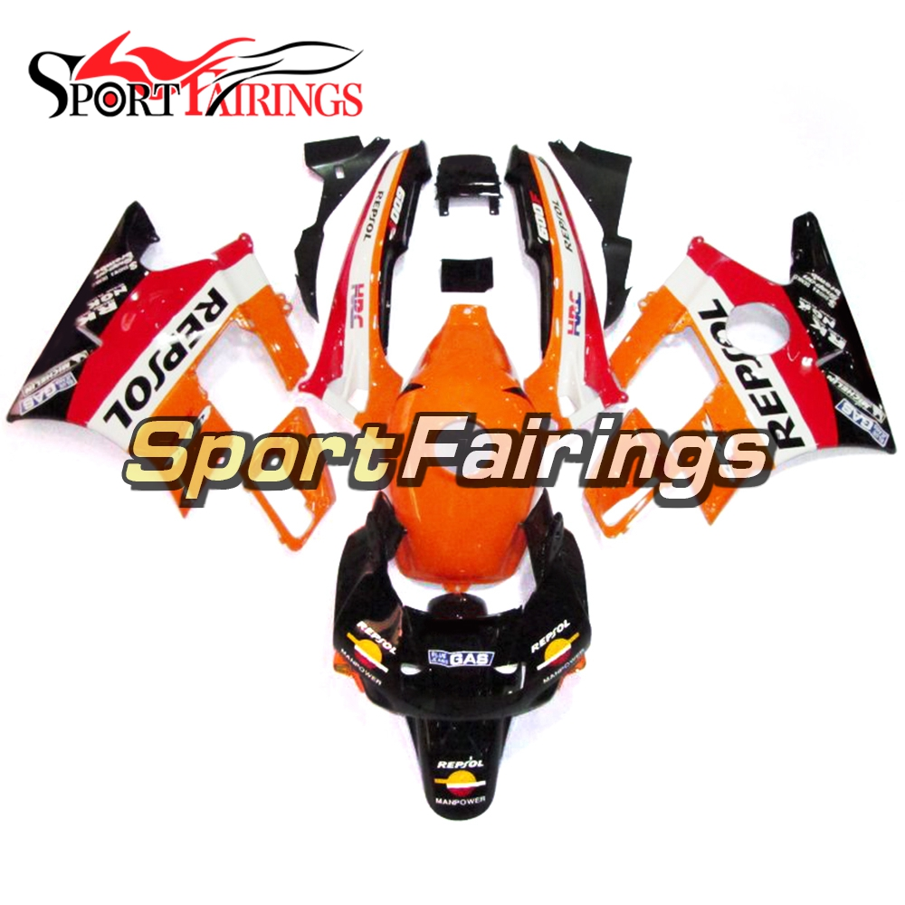 ABS <font><b>Plastic</b></font> Fairing Kits For <font><b>Honda</b></font> <font><b>CBR600</b></font> <font><b>F2</b></font> 91 92 93 94 Year 1991 1992 1993 1994 <font><b>CBR600</b></font> Bodywork Orange Red Balck Sportbikes image