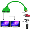 New Hot Multi Color 1080P 1/2 Splitter HDMI Male To Female 2 HDMI Cable 1 In 2 Out HDMI Adapter for Video Computer DVD TV HDTV