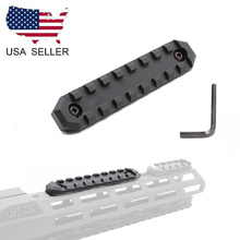 US 9 Slots M-lok Section Mount 20mm Picatinny Weaver Rail Base for Rifle Hunting все цены