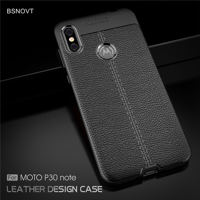 buy online 0aff9 6f7bc US $2.46 37% OFF|BSNOVT For Moto One Power Case Soft Silicone TPU Leather  Shockproof Case Back Cover For Motorola Moto P30 Note Case 6.2