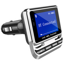 цена на Big LCD Displayer Wireless Bluetooth FM Transmitter Car USB phone charger MP3 Player Support TF/SD/MMC/MP3/CD/DVD