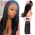 360 Lace Frontal With Bundle Brazilian Straight Hair Lace Frontal Closure With Bundles Pre Plucked Top 360 Frontal With Bundles