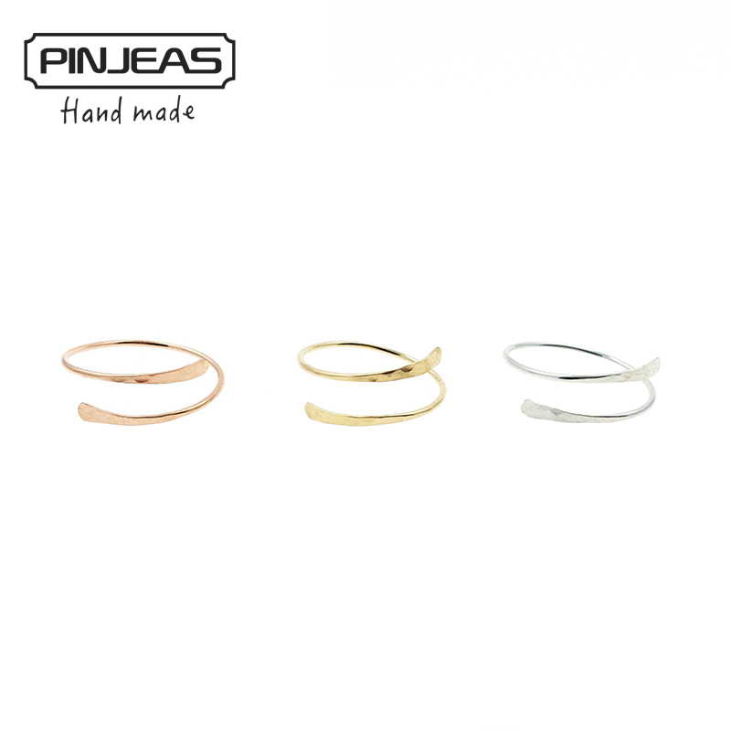 PINJEAS New Bypass Thumb Ring Handmade Ring Modern Simple Minimalist Jewelry for women Christmas gift
