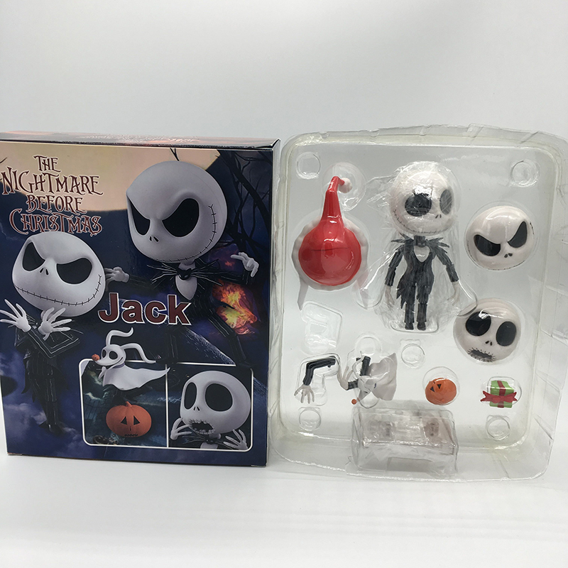 The Nightmare Before Christmas Jack Nendoroid 1011 Change Face Action figure Toys Doll Christmas Gift For Kids 1