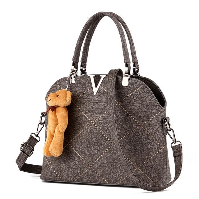 Lady Plaid Leather Portable Bag Luxury Women Designer Handbag High Quality Brand Shoulder Messenger Sac A Main Femme De Marque