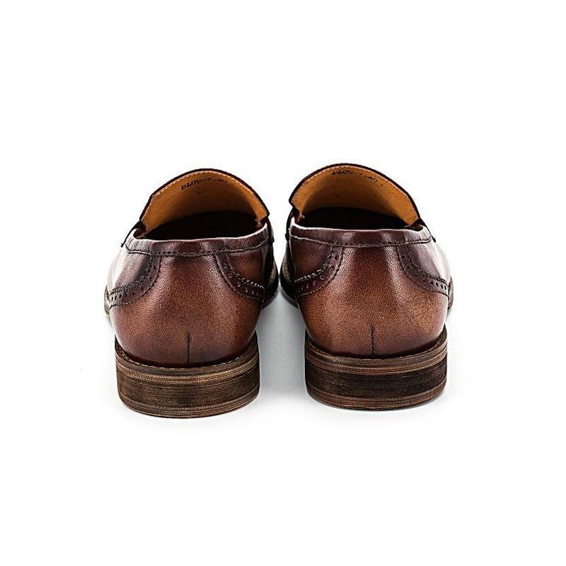 Mocassins Bullock Sobre Dos Couro Oxford Homens Borla 2019 Black Feitos Deslizar Vintage À Mão Novos Do Casuais Genuíno Para brown Sapatos PFrwvP