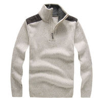 Free Shipping Fashion Casual New Men's Winter Sweater Male Long Sleeve Stand Collar Zipper Thick Pullover