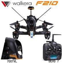 Asli Walkera F210 Pembalap Profesional Drone Dengan Kamera 700TVL 5.8G FPV RC Quadcopter RTF dengan DEVO 7 Transmitter