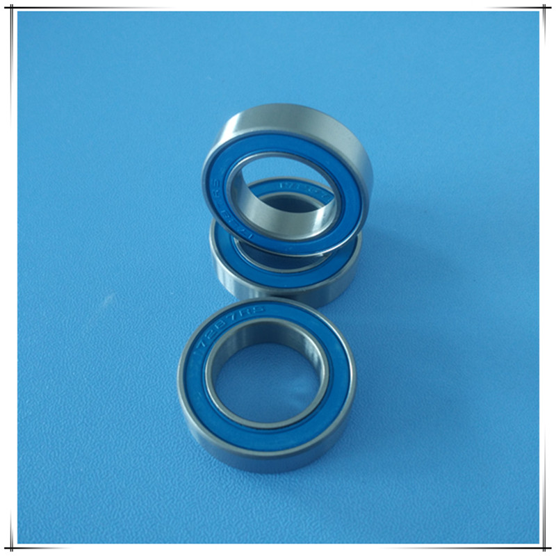 Free shipping 17287-2RS hybrid ceramic deep groove ball bearing 17*28*7mm free shipping wheel hub bearing 15267 2rs 15 26 7mm 15267 stainless steel si3n4 hybrid ceramic bearing