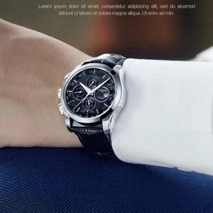 Image 4 - Relogio masculino חדש קרנבל אוטומטי שעונים גברים מכאני שעון עור רצועת מים התנגדות 8659G שעון יד ספיר