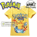 New Cartoon Pokemon Go T Shirts Boys Pikachu T-Shirts Kids Fashion Short Sleeve Anime Children Clothing Funny 3D Shirts Tops
