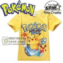 Novo Go T Camisas Meninos Dos Desenhos Animados Pokemon Pikachu Camisetas Crianças Moda Manga Curta Anime Roupa Das Crianças Engraçado 3D Camiseta Tops