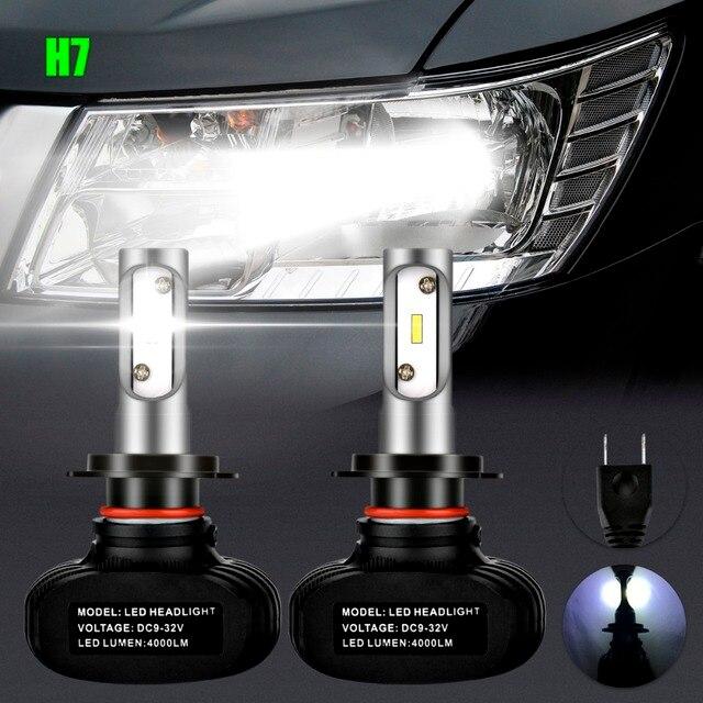 2x h7 6led auto ha condotto la lampadina dei fari high. Black Bedroom Furniture Sets. Home Design Ideas