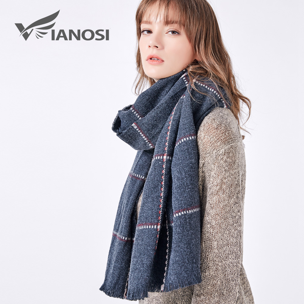 VIANOSI Women Scarf Newest Design Soft Warm Scarf Winter Brand Shawl Fashion cachecol Thicken Long echarpe Woman VA212 on AliExpress