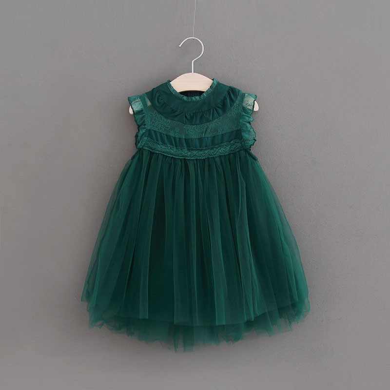 Baby Girls Clothes Kids Girls Ball Gown Dress 2018 Toddler Girl Summer Lace Princess Birthday Party Dress 2-6T 4Color