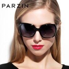 PARZIN Brand Designer Big Frame Sunglasses Shades For Women Fashion Oval Real Quality Female Polarized