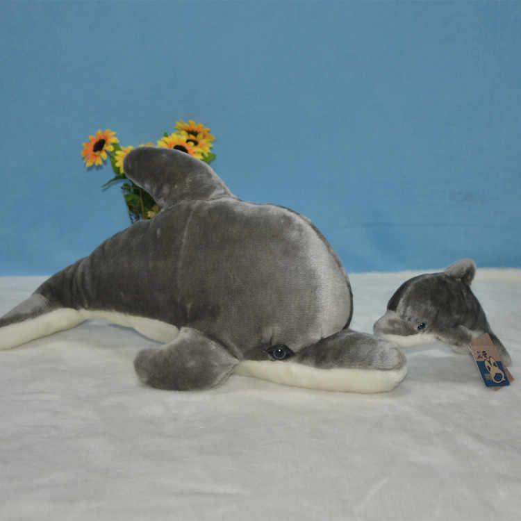 Chegada nova vida Marinha grande 55 cm golfinho brinquedo de pelúcia golfinho mãe andbaby 20 cm macia boneca de brinquedo de presente de aniversário s0055