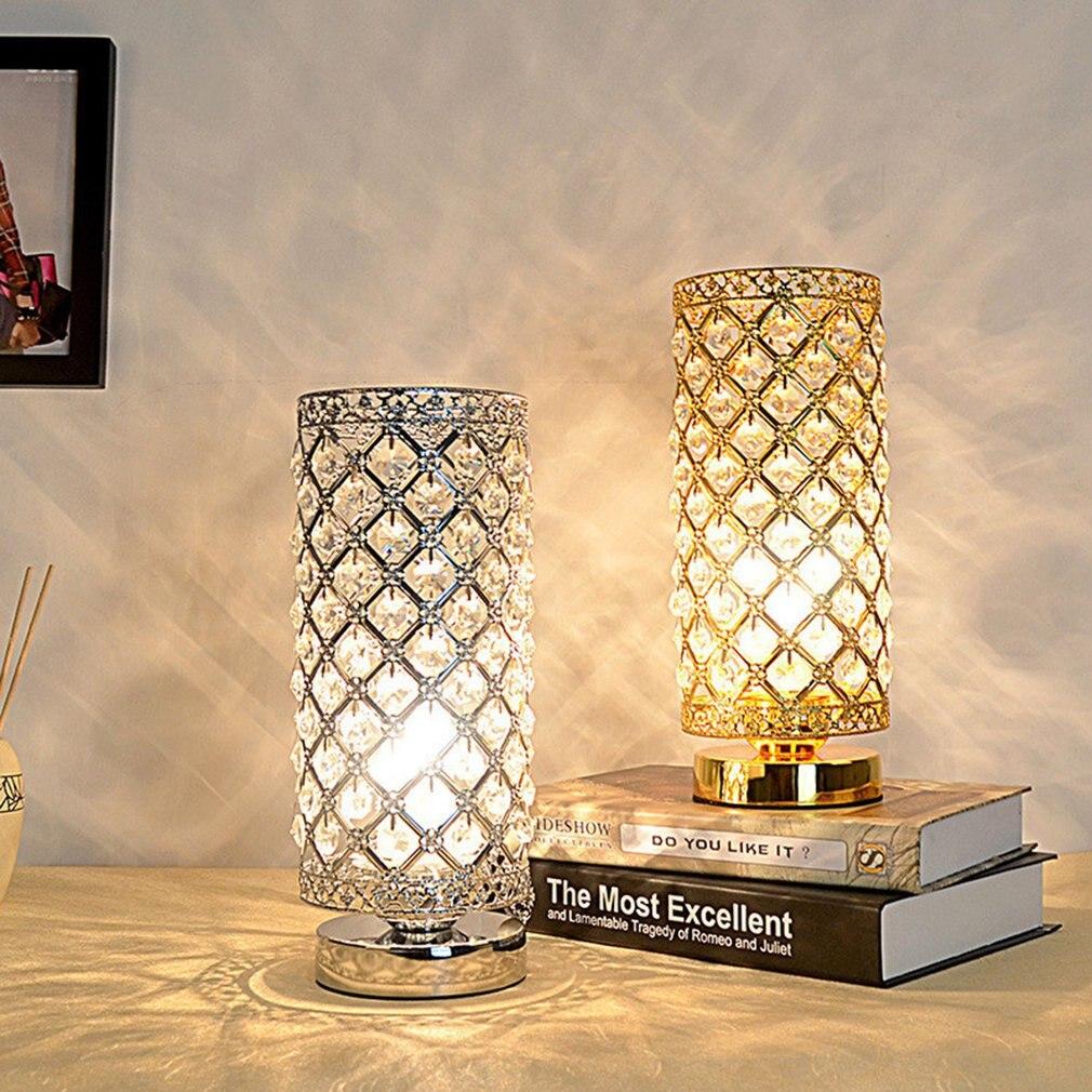 Belle LED veilleuse lampe de bureau créative lampe en cristal Table veilleuses maison bureau décoration cadeaux
