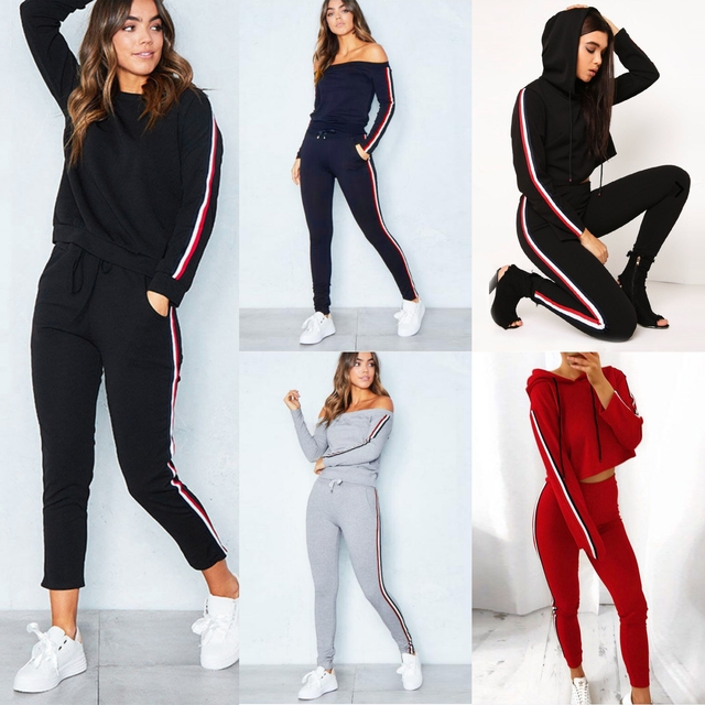 Tracksuit Casual Costumes For Women Suit 2017 Autumn Winter Women's Suits Two Piece Set Sportswear Tracksuits Plus Size 3XL