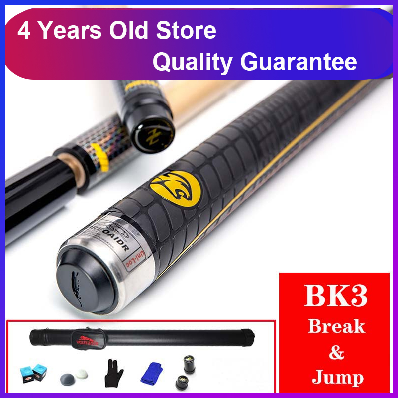 WOLFIGHTER 3142 Brand BK3 Pool Punch Jump Cue 13mm Tip Billiard Stick Jump Cues Sport Handle
